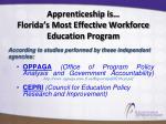 apprenticeship is florida s most effective workforce education program