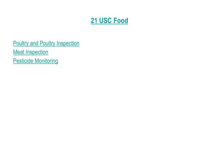 21 USC Food