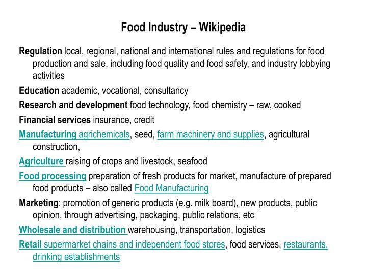 Food Industry – Wikipedia