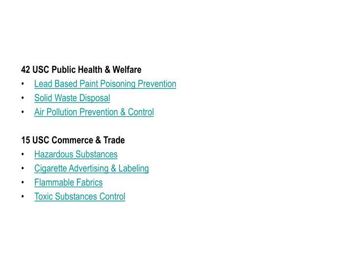 42 USC Public Health & Welfare