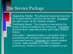 the service package