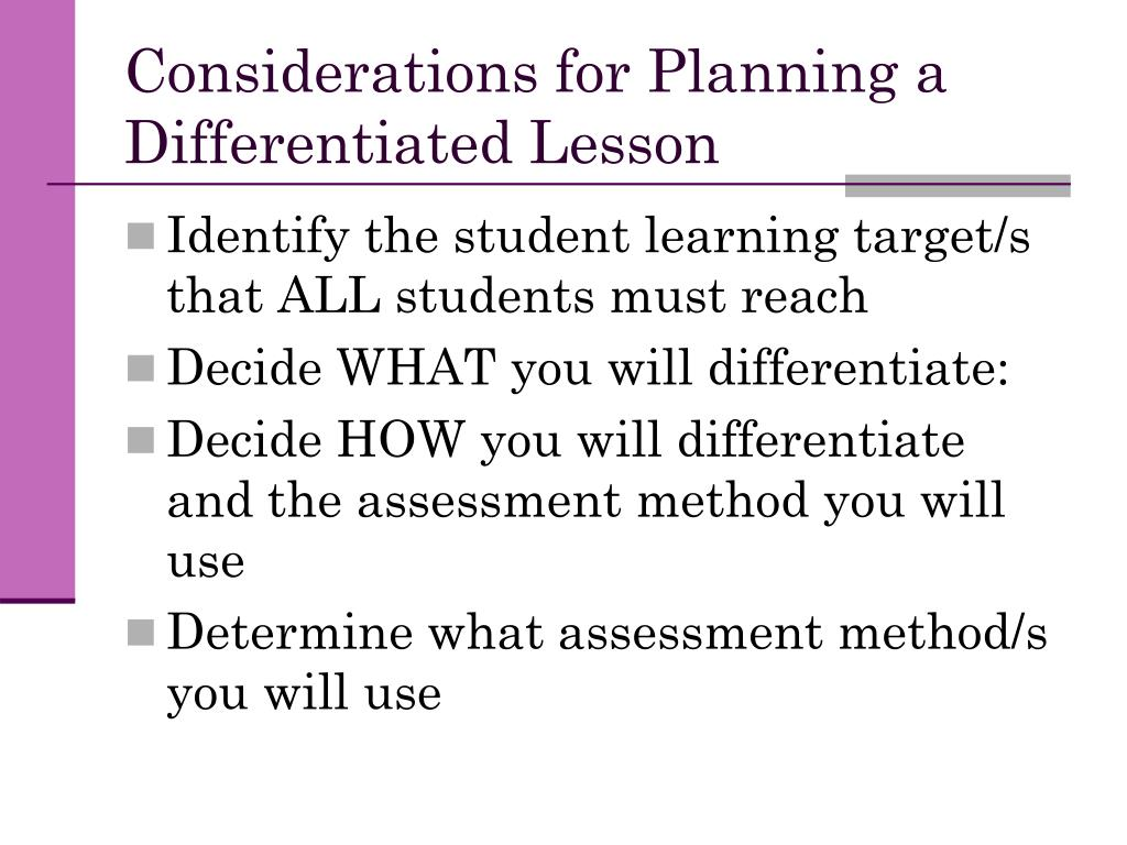 Considerations for Planning a