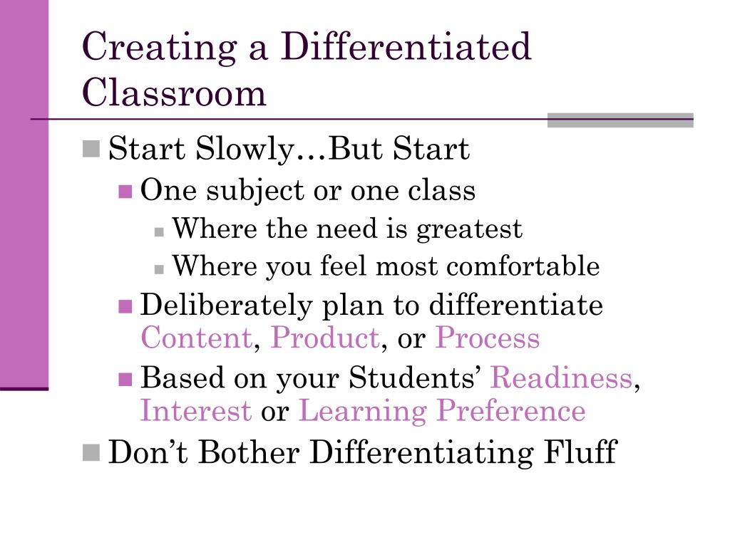 Creating a Differentiated Classroom