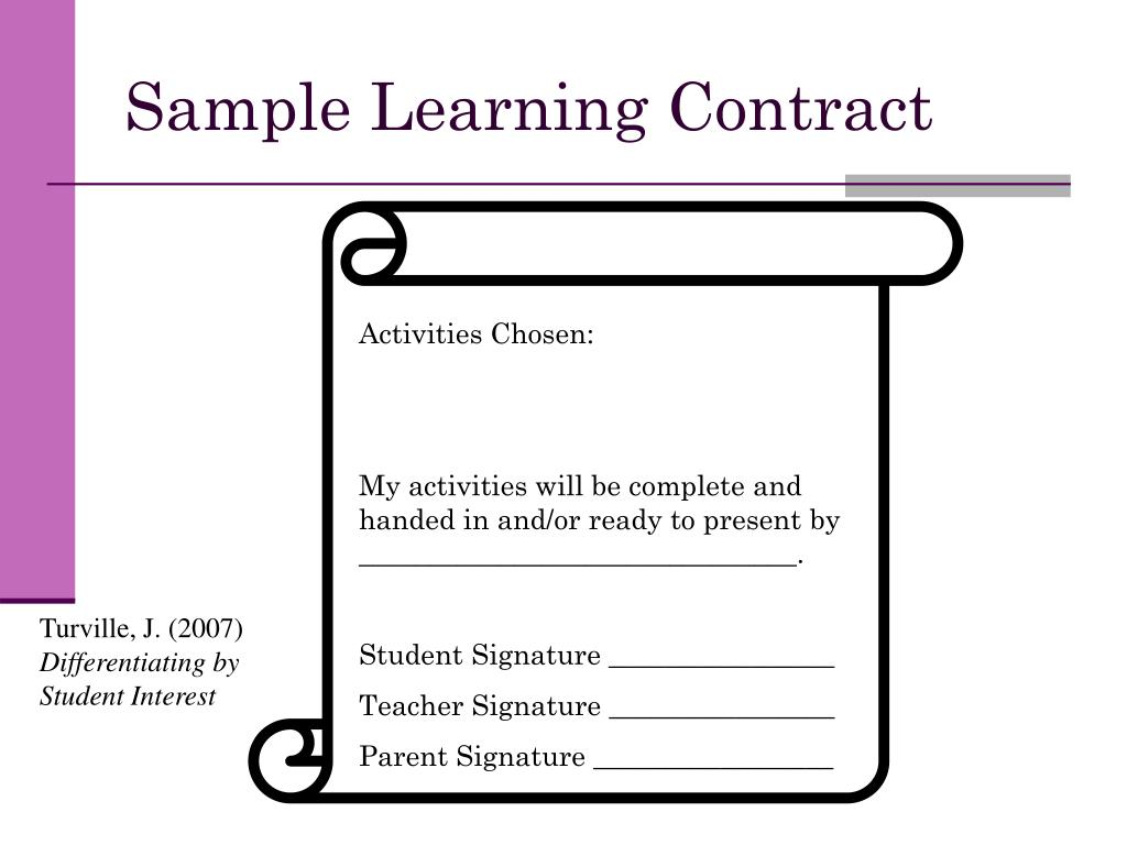 Sample Learning Contract