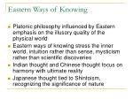 eastern ways of knowing