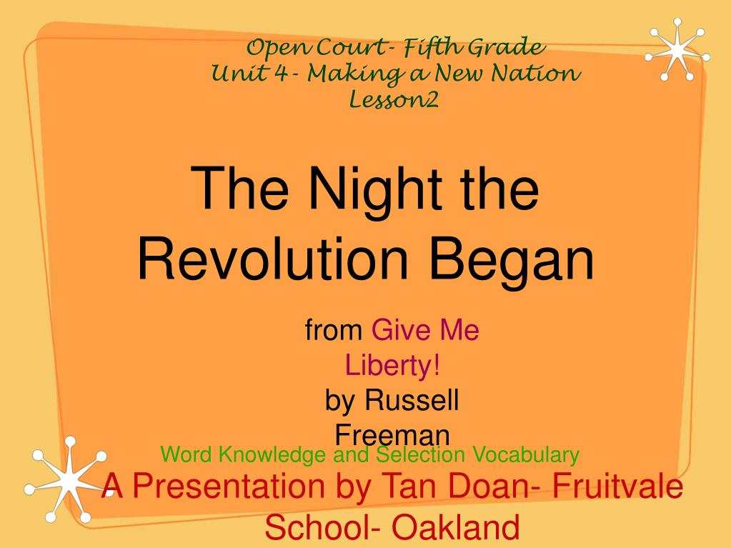 the night the revolution began l.