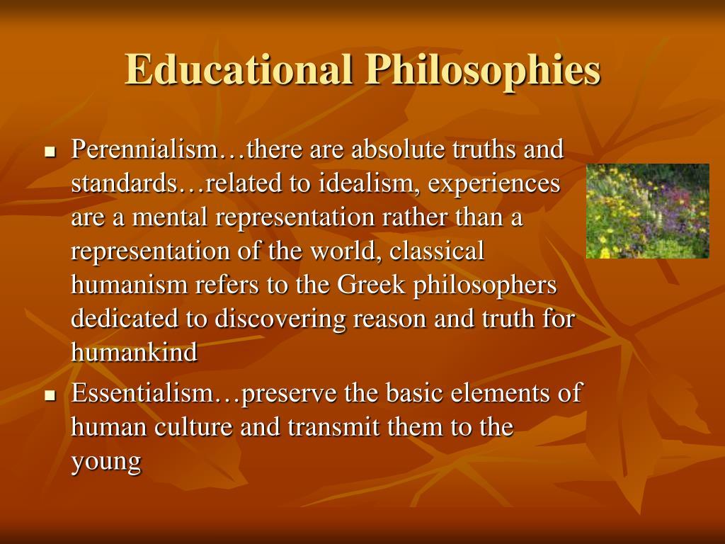 idealism realism perennialism