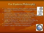 far eastern philosophy