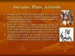 socrates plato aristotle