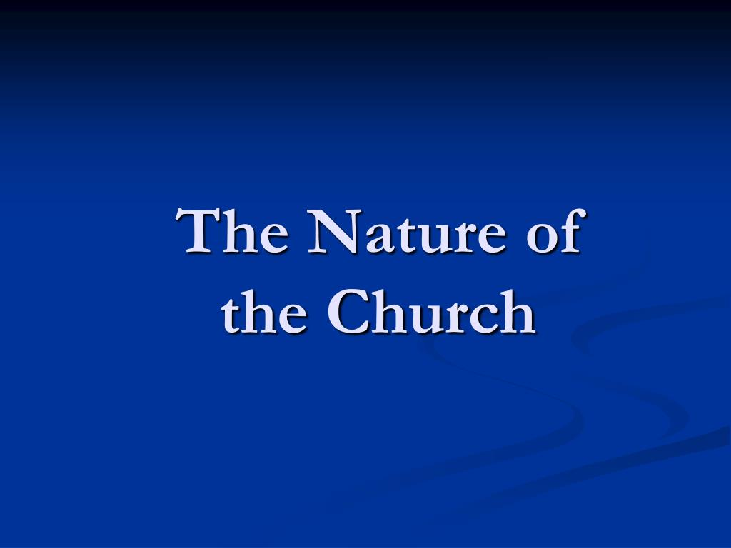 the nature of the church l.