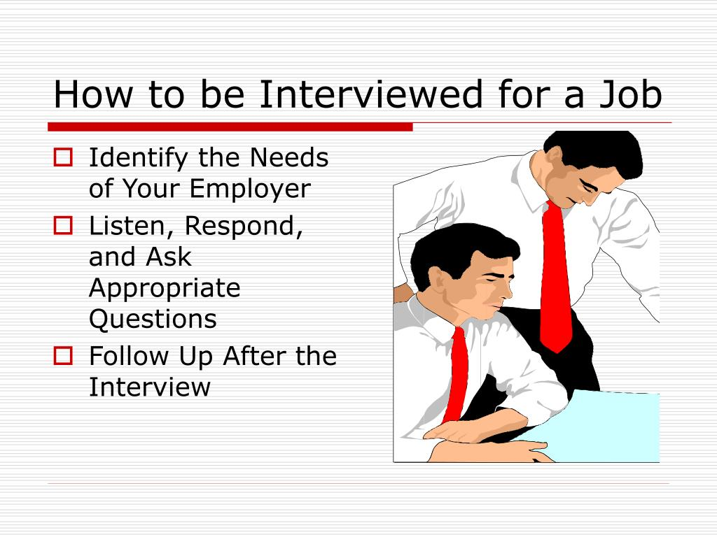 How to be Interviewed for a Job