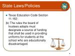 state laws policies