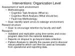 interventions organization level