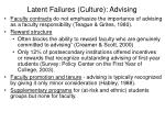 latent failures culture advising
