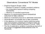 observations conventional fit models10