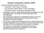 student integration model sim