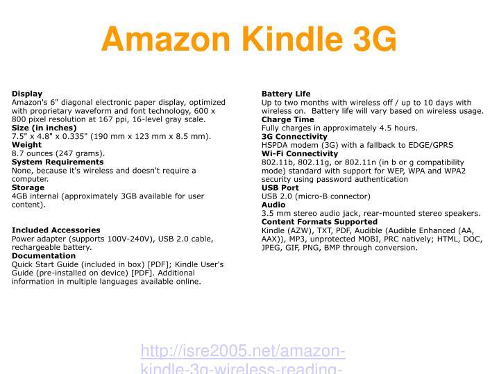 Amazon kindle 3g2