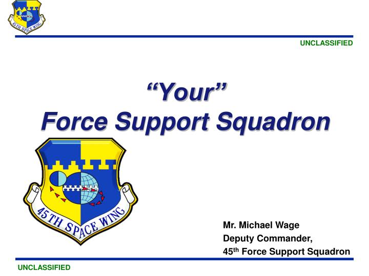 Your force support squadron