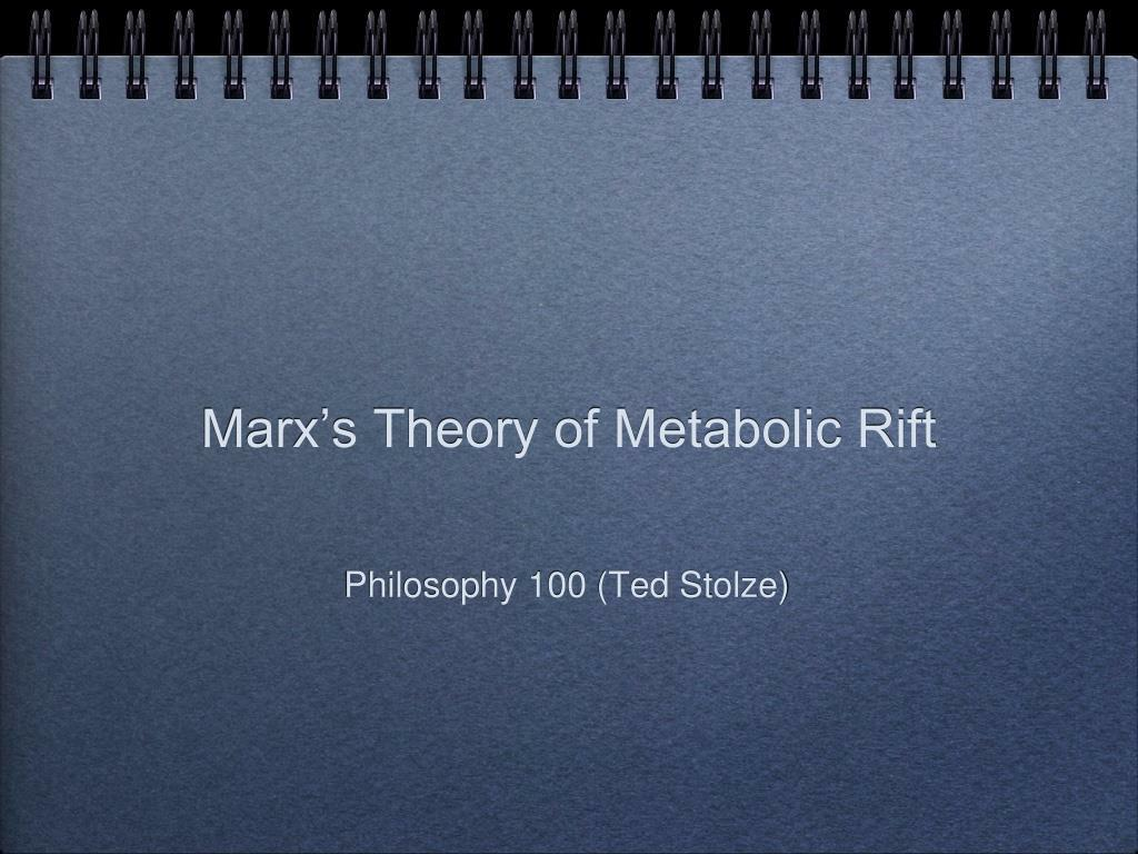 marx s theory of metabolic rift l.