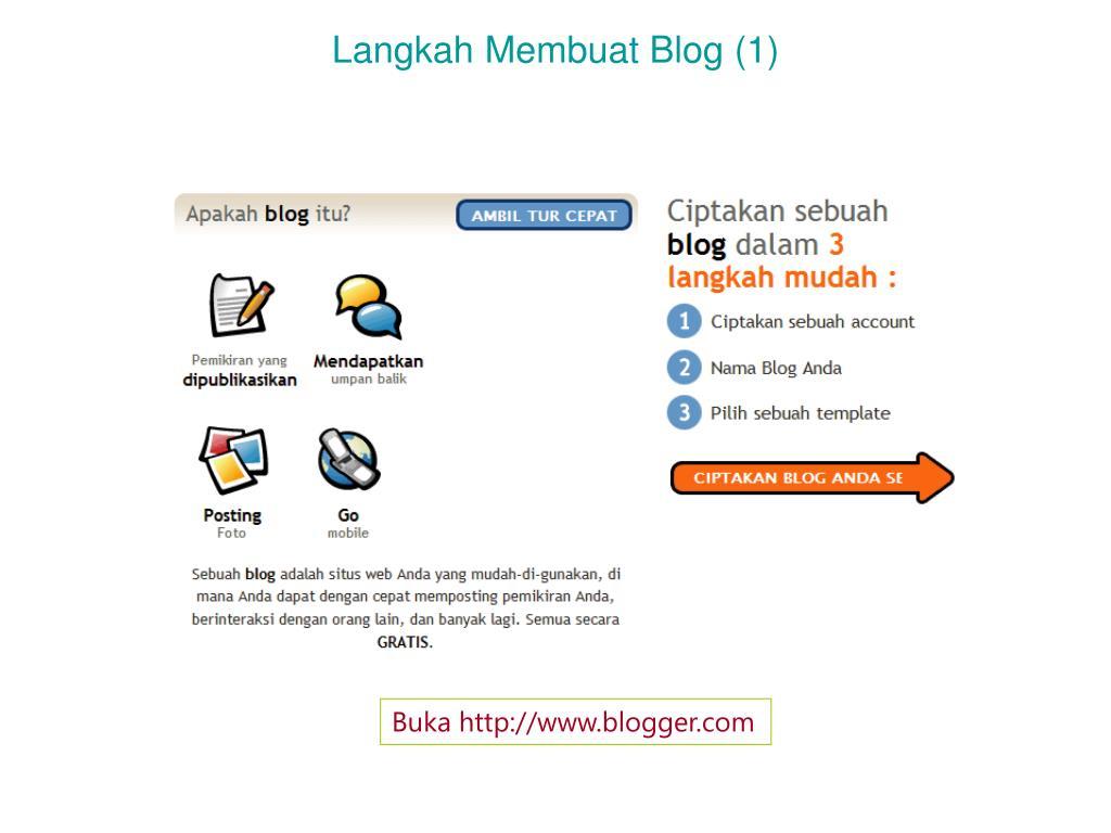 langkah membuat blog 1 l.