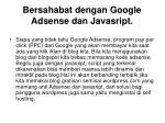 bersahabat dengan google adsense dan javasript