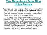 tips menentukan tema blog untuk pemula
