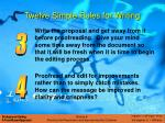 twelve simple rules for writing14
