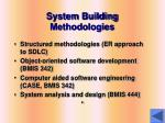 system building methodologies