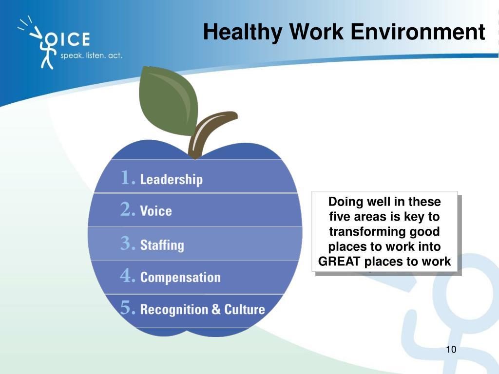 healthy work environment
