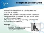 recognition service culture