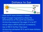 distance to sun