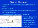 size of the moon