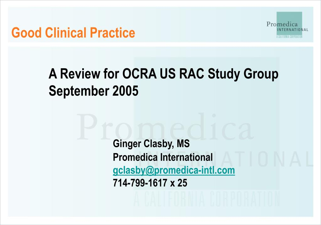 good clinical practice l.