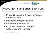 video seminar series sponsors