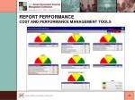 report performance cost and performance management tools