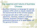 the essence and nature of business chinese
