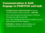 communication self engage in positive self talk