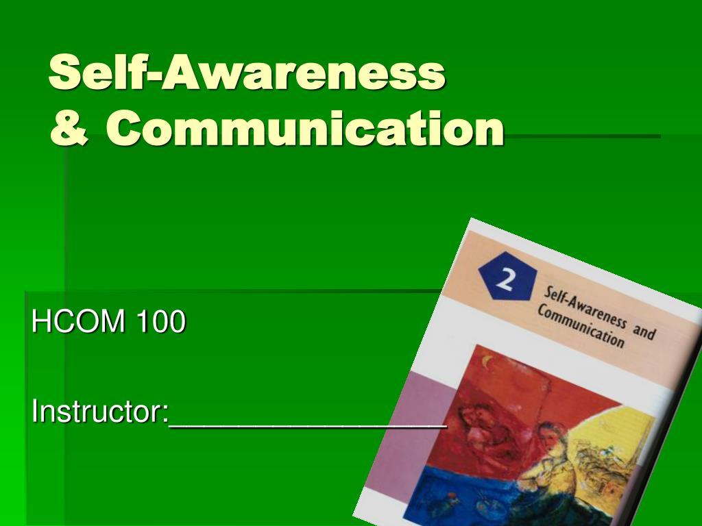 self awareness communication l.