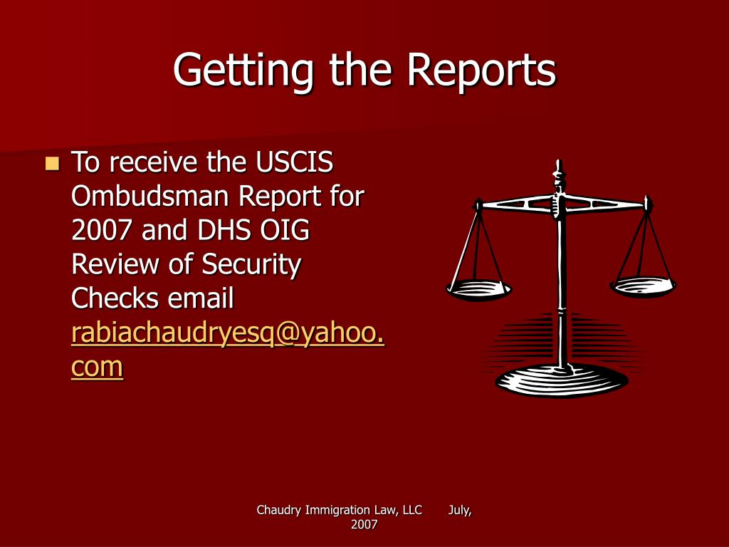 Getting the Reports