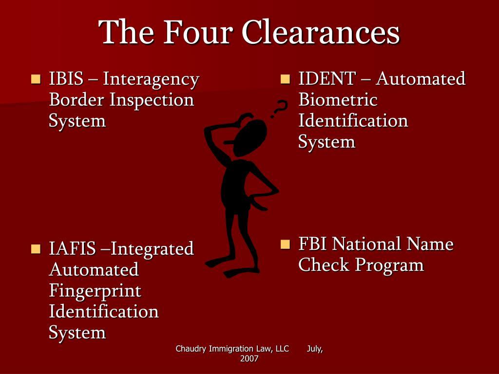 IBIS – Interagency Border Inspection System