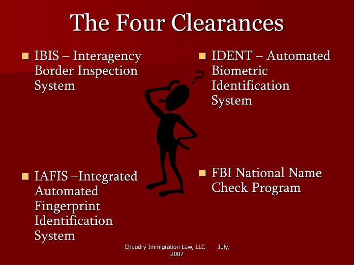 The four clearances