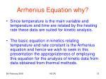 arrhenius equation why