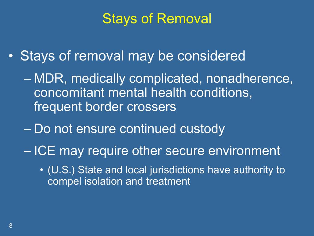 Stays of Removal