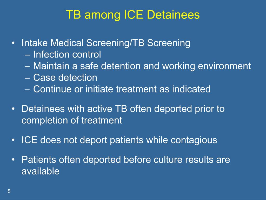 TB among ICE Detainees