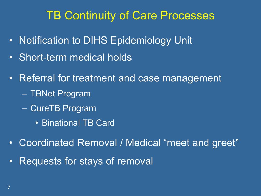 TB Continuity of Care Processes