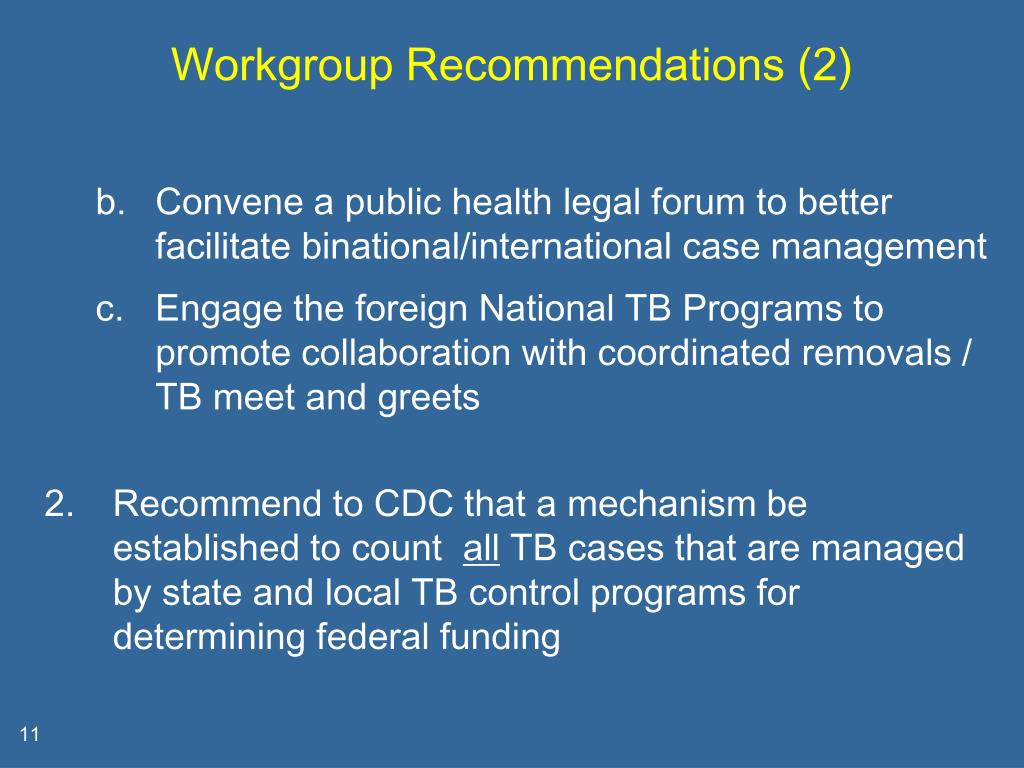 Workgroup Recommendations (2)