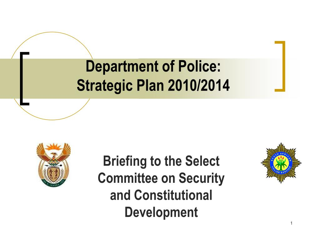 department of police strategic plan 2010 2014 l.