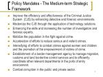 policy mandates the medium term strategic framework