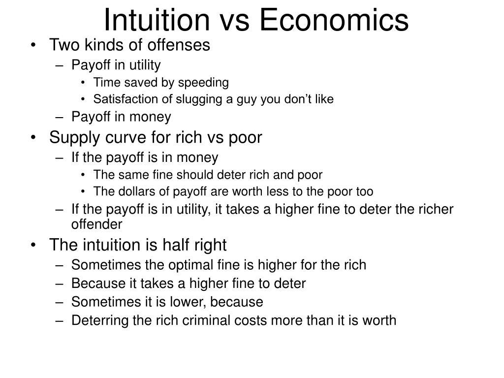 Intuition vs Economics