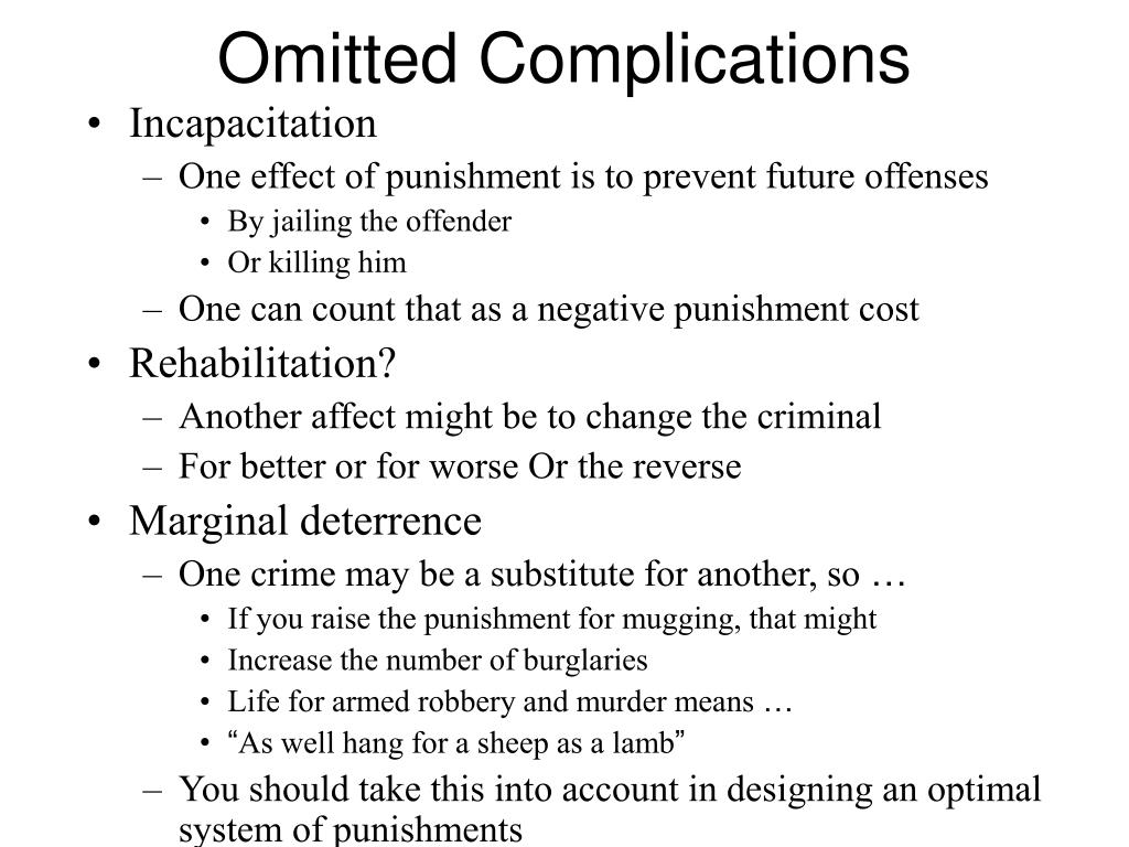 Omitted Complications